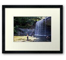 A Hot Summer Day at the Falls Framed Print