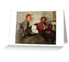 Edgar Degas French Impressionism Oil Painting Violin Greeting Card