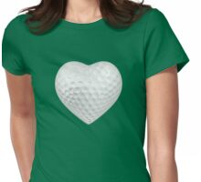 Golf ball heart Womens Fitted T-Shirt