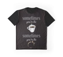 Sometimes Coffee Stain Graphic T-Shirt