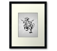 AWESOMEOSAURUS Framed Print