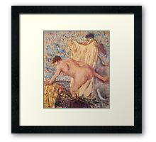 Edgar Degas French Impressionism Oil Painting Woman Bathing Framed Print