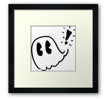 Pac-Man Ghost Sketch Framed Print