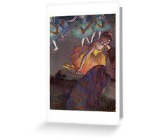 Edgar Degas French Impressionism Oil Painting Ballerinas Dancing Greeting Card