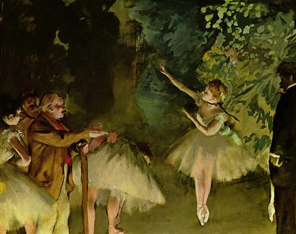 Edgar Degas French Impressionism Oil Painting Ballerinas Dancing by jnniepce