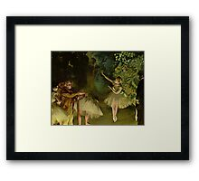 Edgar Degas French Impressionism Oil Painting Ballerinas Dancing Framed Print