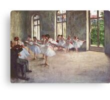 Edgar Degas French Impressionism Oil Painting Ballerinas Rehearsing Canvas Print