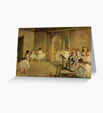 Edgar Degas French Impressionism Oil Painting Dance School Greeting Card