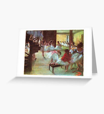 Edgar Degas French Impressionism Oil Painting Dance School Greeting Card