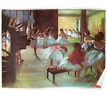 Edgar Degas French Impressionism Oil Painting Dance School Poster