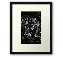 The First stone Framed Print
