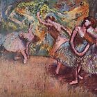 Edgar Degas French Impressionism Oil Painting Dancing Stage by jnniepce