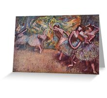 Edgar Degas French Impressionism Oil Painting Dancing Stage Greeting Card