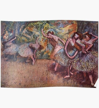 Edgar Degas French Impressionism Oil Painting Dancing Stage Poster