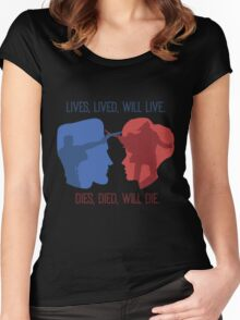 Lives, Lived, Will Live Women's Fitted Scoop T-Shirt