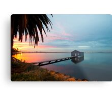 Ahh... The Serenity... Crawley Boat Shed at Sunrise Metal Print