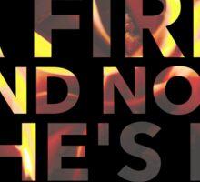 She lit a fire - Lord Huron Sticker