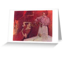 Edgar Degas French Impressionism Oil Painting Brushing Hair Greeting Card