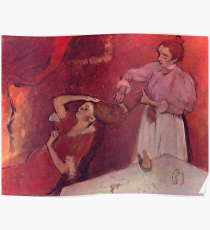 Edgar Degas French Impressionism Oil Painting Brushing Hair Poster