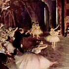 Edgar Degas French Impressionism Oil Painting Ballerinas Performing by jnniepce