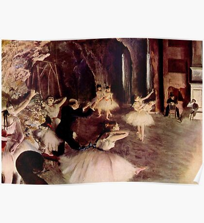 Edgar Degas French Impressionism Oil Painting Ballerinas Performing Poster