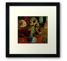 Edgar Degas French Impressionism Oil Painting Womens Hats Framed Print