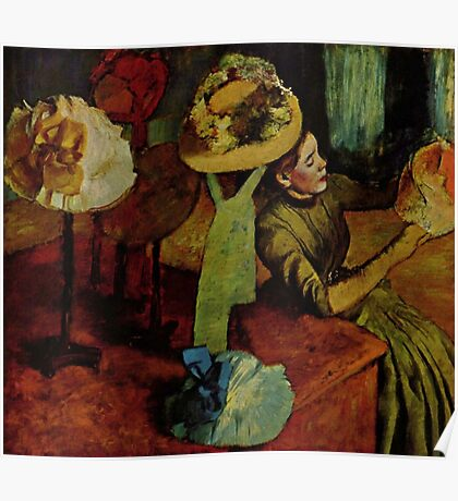 Edgar Degas French Impressionism Oil Painting Womens Hats Poster