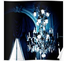 Blue Chandelier, Nursery Art Poster