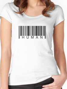 Human Barcode Women's Fitted Scoop T-Shirt