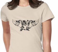 Angel Dog Womens Fitted T-Shirt