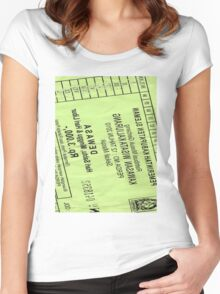 Kaliurang Ticket Women's Fitted Scoop T-Shirt