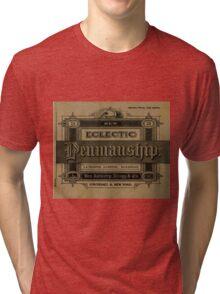 The New Eclectic Penmanship Primer, 1883 Tri-blend T-Shirt