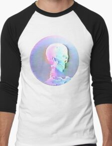 Vaporwave Skull Men's Baseball ¾ T-Shirt