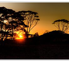Sunset over Wimmera Hill by Christopher Grace