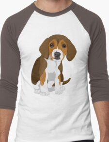 Beagle Pup Men's Baseball ¾ T-Shirt