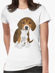 Beagle Pup Womens Fitted T-Shirt
