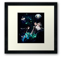 Amy and The Doctor in Space Framed Print