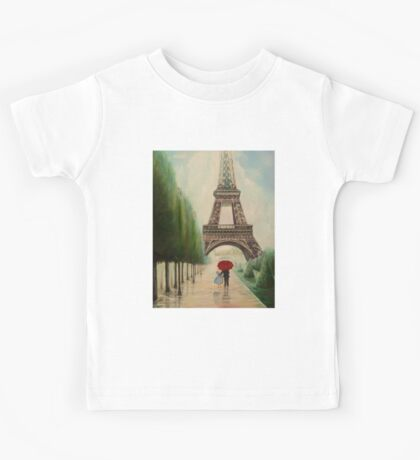 At the Eiffel Tower Kids Tee