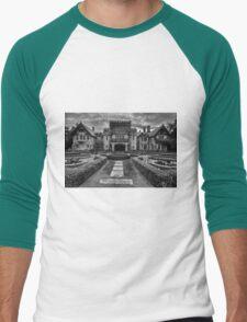 Hatley Castle Black And White Vintage Photo Men's Baseball ¾ T-Shirt