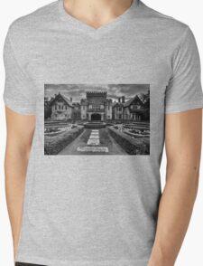 Hatley Castle Black And White Vintage Photo Mens V-Neck T-Shirt
