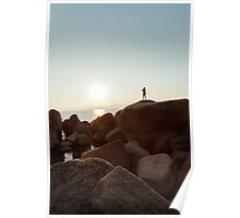 Man Photographing Sunset Poster