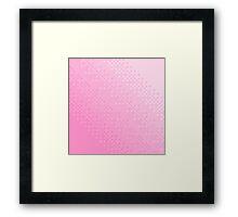 Pink Pixel Wave Framed Print
