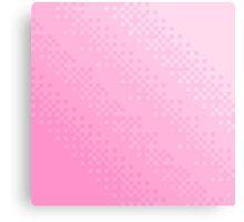 Pink Pixel Wave Canvas Print