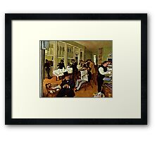 Edgar Degas French Impressionism Oil Painting Men Working Framed Print