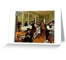 Edgar Degas French Impressionism Oil Painting Men Working Greeting Card