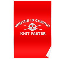 knitters knit funny nerd geek geeky Poster