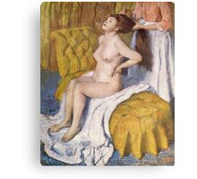 Edgar Degas French Impressionism Oil Painting Brushing Hair Canvas Print