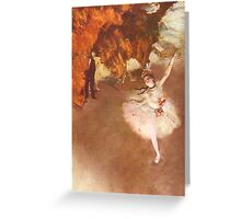 Edgar Degas French Impressionism Oil Painting Ballerinas Dancing Greeting Card