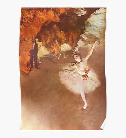Edgar Degas French Impressionism Oil Painting Ballerinas Dancing Poster