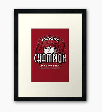 Pokemon League Champion Framed Print